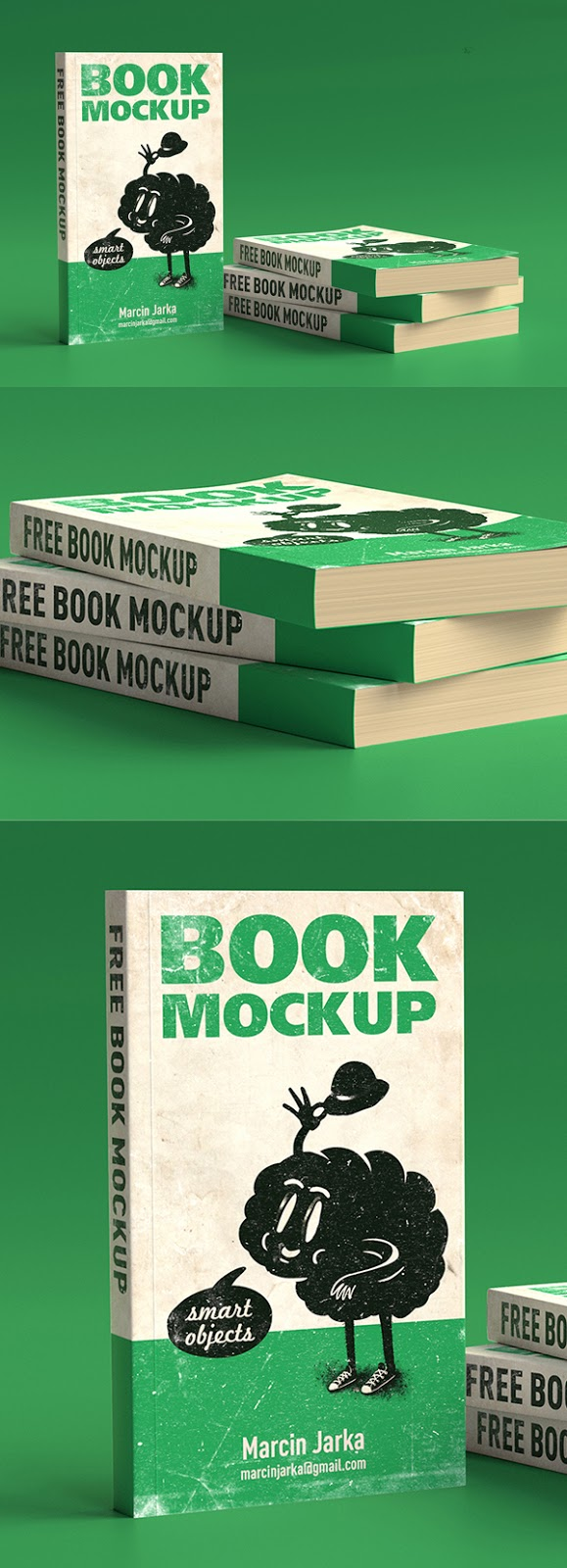 Download Free Mockup PSD 2018 - Free Book Mockup PSD Templates