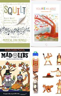 November Books, Morning Basket, Thanksgiving