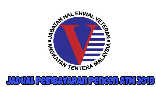Jadual Pembayaran Pencen ATM 2018 Pesara Tentera