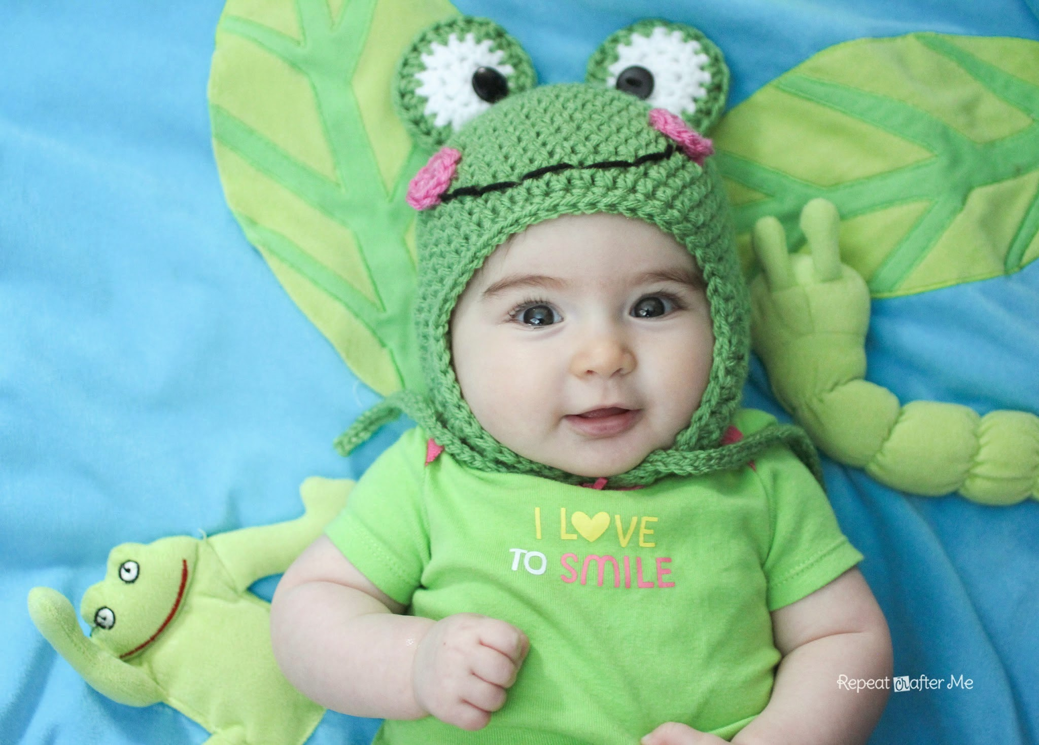 Repeat Crafter Me Crochet Frog Hat Pattern