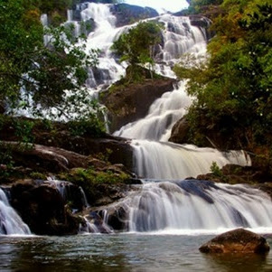 Temburun Waterfall at Anambas Island