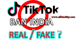 Tik Tok Banned in india