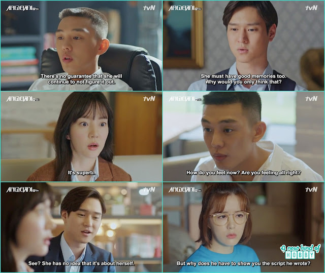 before publishing the story se joo show the draft to seol - Chicago Typewriter: Episode 9 korean drama