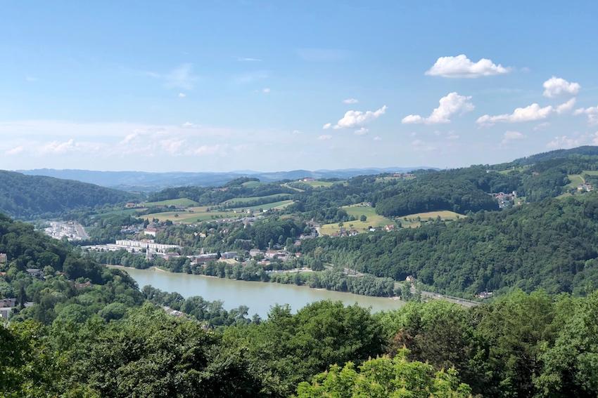 Blick Richting Puchenau, Franz-Josefs-Warte