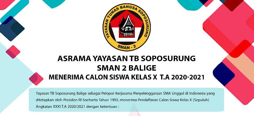 Penerimaan Siswa Baru Asrama Yayasan Soposurung (Yasop)