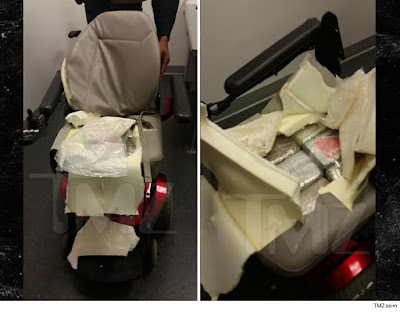 Woman caught smuggling cocaine in wheel chair at JFK Airport