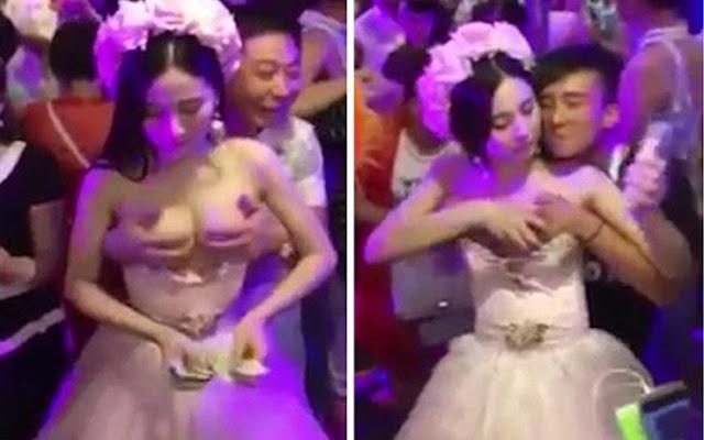 «Νύφη» προσφέρει το στήθoς της και… πληρώνεται