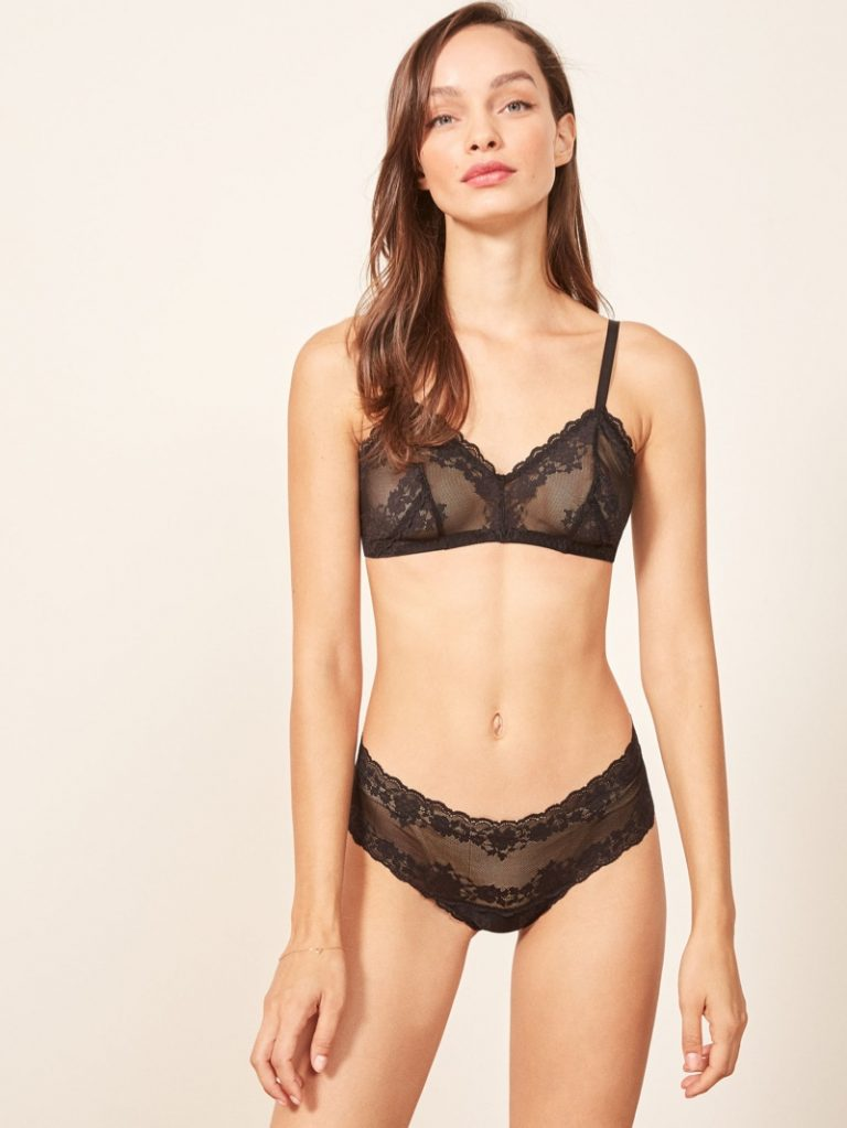 Reformation 'Costa' Bra $45 and 'Nadja' Hotpant in Black $18