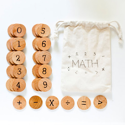 Wood Math Set from Tree Fort Toys