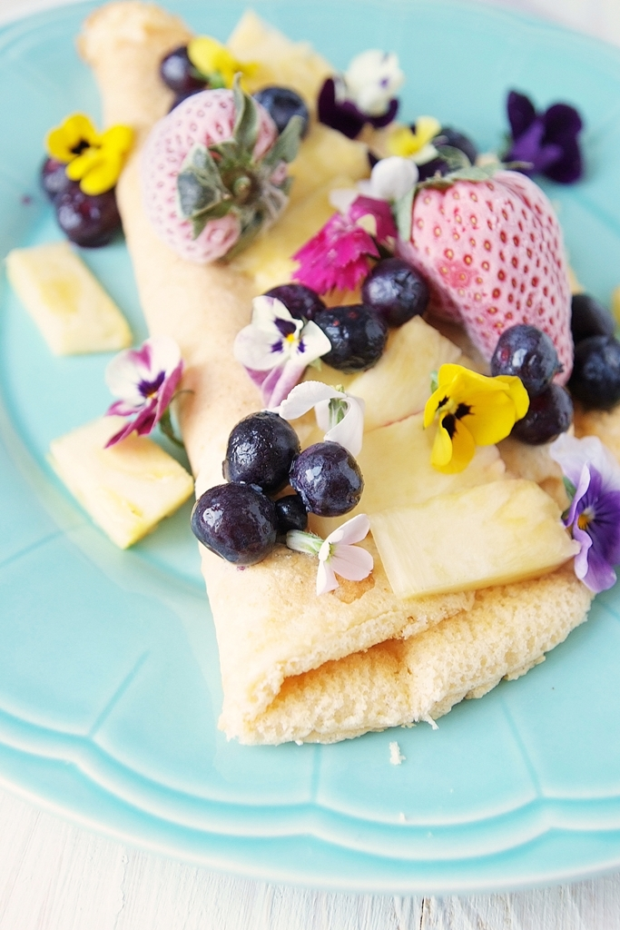 Omlet biszkoptowy z jadalnymi kwiatami!