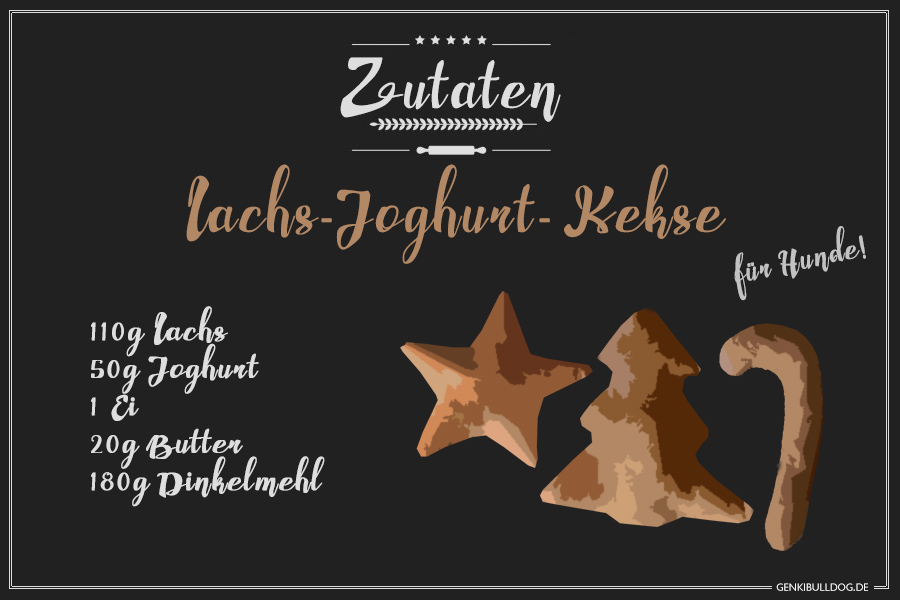 Rezept: Lachs-Joghurt Kekese für Hunde