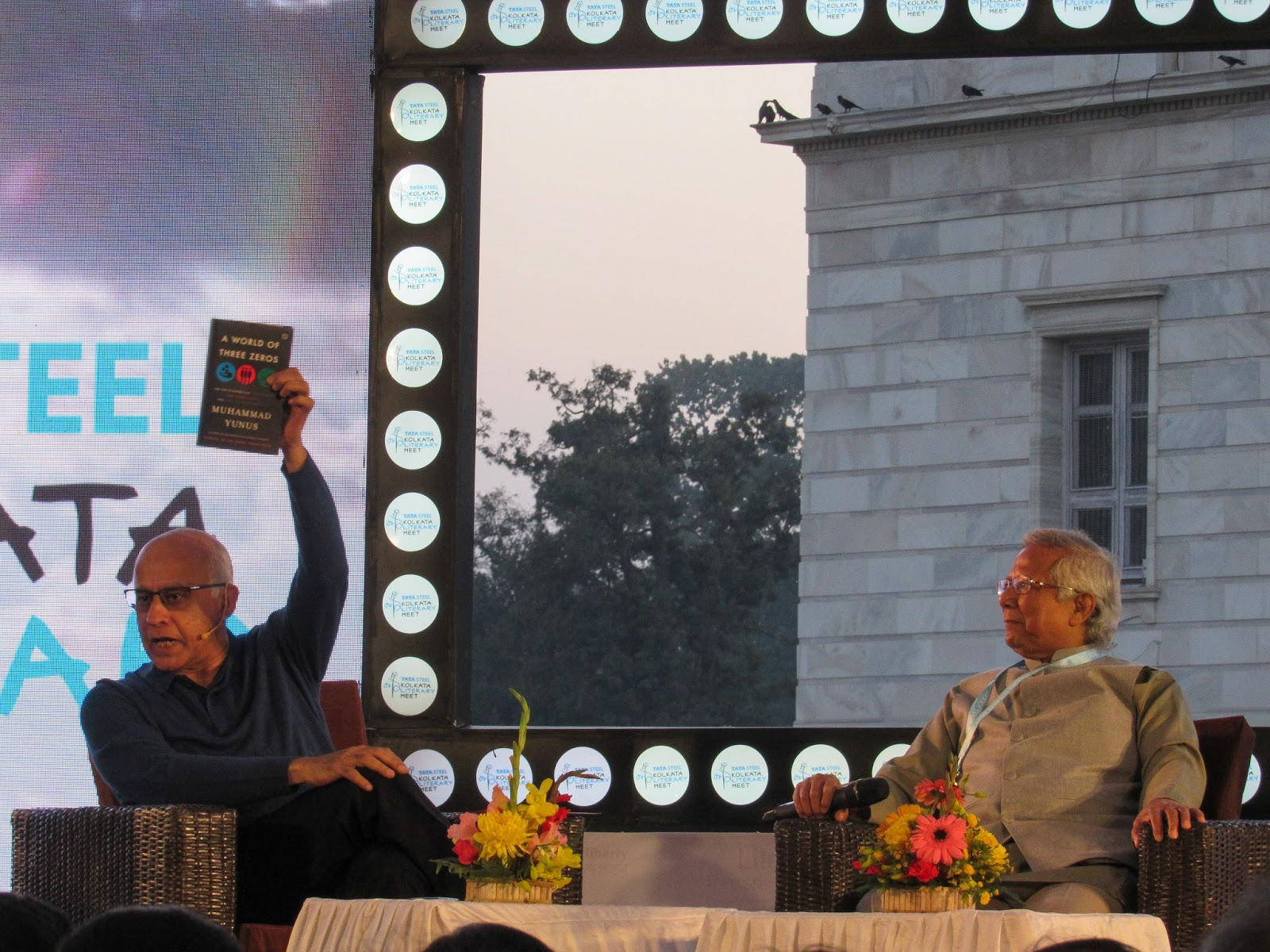 Muhammad Yunus - tata steel kolkata literary meet 2018 - subroto bagchi