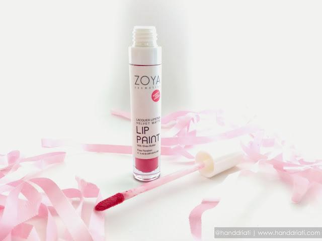 Review ZOYA Cosmetics LIP PAINT Lacquer Lipstick Velvet Matte