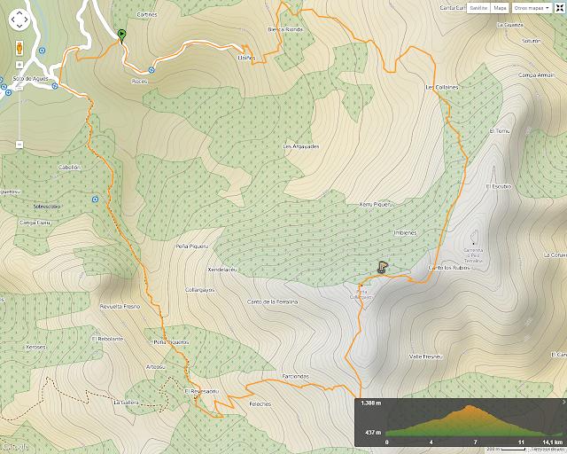 Ruta al Cuyargayos: Mapa de la Ruta