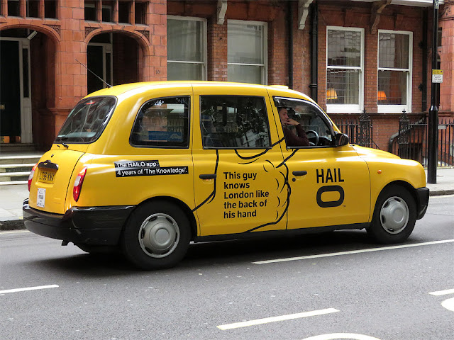 Hailo cab, Lower Sloane Street, Chelsea, London