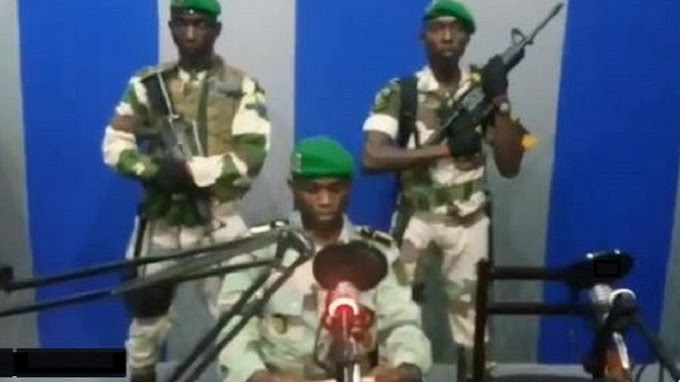 Gabon military takes over state radio, condemn's Bongo's Rabat address