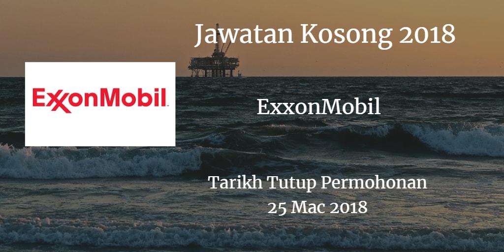 Jawatan Kosong ExxonMobil 25 Mac 2018