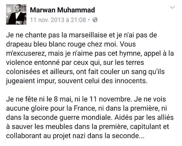 Marwan Muhammad n'aime pas la France