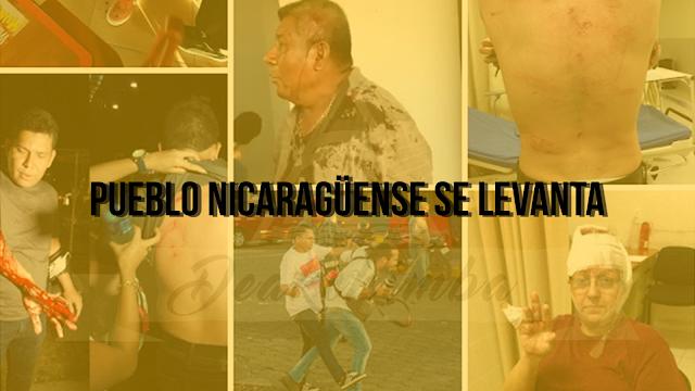 Pueblo Nicaragüense Es Agredida Por Turbas Sandinistas