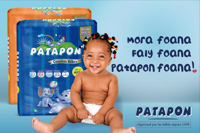 Création affiche 60x40 Patapon Foana bébé Madagascar