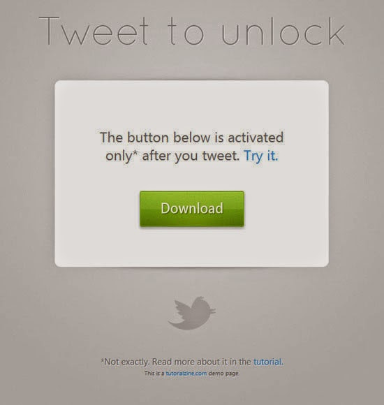 Making a Simple Tweet to Download System