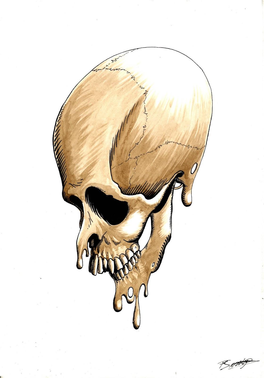 A4 Tinta china, cáscara de nuez - serie Macabre Anatomie