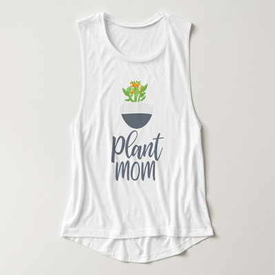Plant Mom Botanical Potted Plant Tank Top from Zazzle