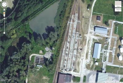 Układ torowy na terenie magazynu paliw w Olszanicy