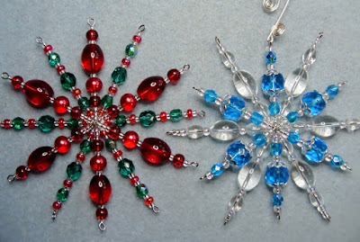 how to make a beaded snowflake