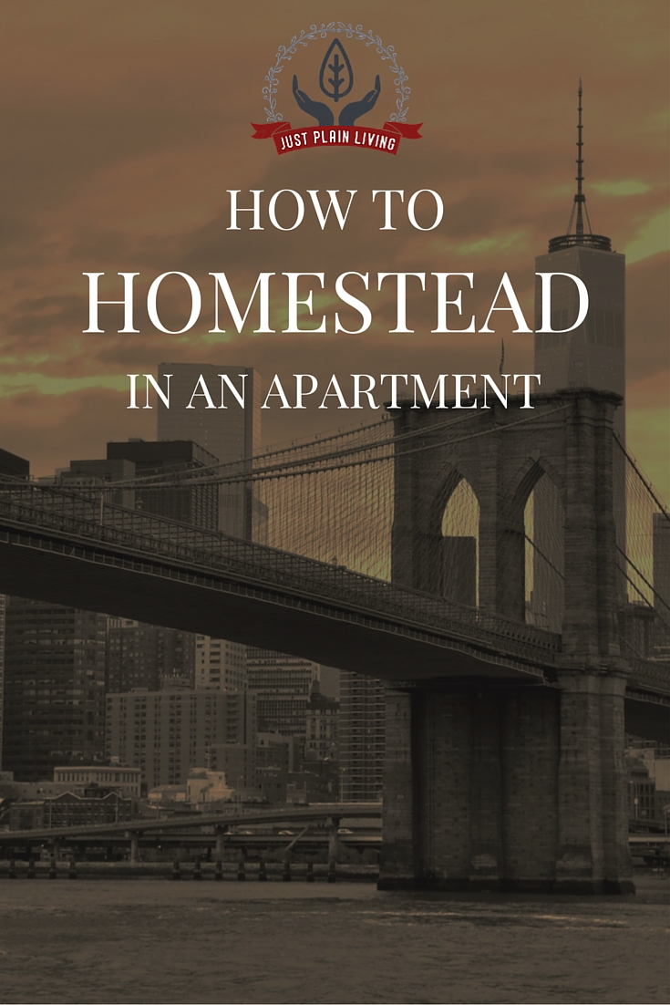 Homesteading does not require acres of land and a barn of livestock. In CAN, of course, but many homesteaders live in apartments! It's definitely possible.
