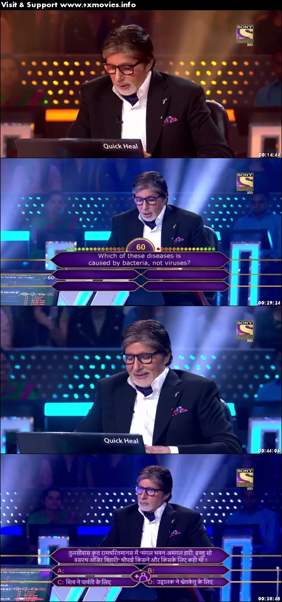 Kaun Banega Crorepati 04 October 2017 HDTV 480p 300MB