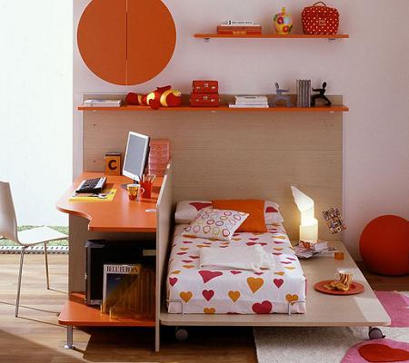 Dormitorios con escritorio for Recamaras juveniles con escritorio