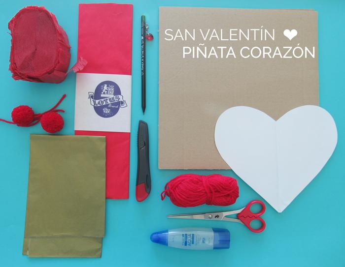 Valentina Vaguada: piñata, corazón, diy, manualidades, san valentin