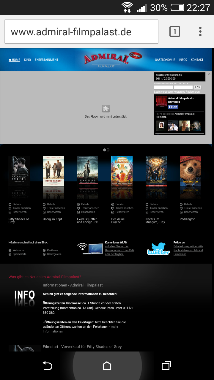 Nicht-mobiloptimierte Website