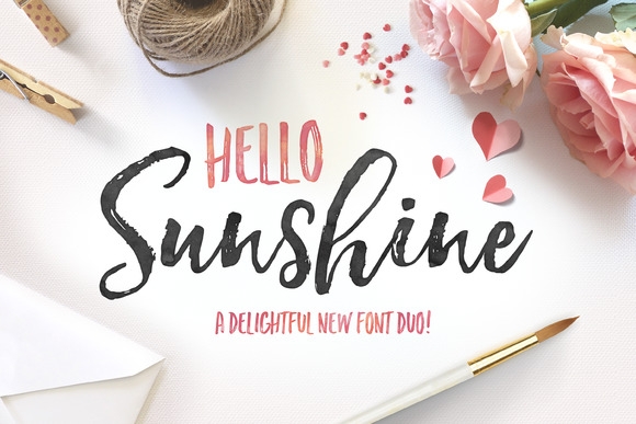 download hello sunshine font duo