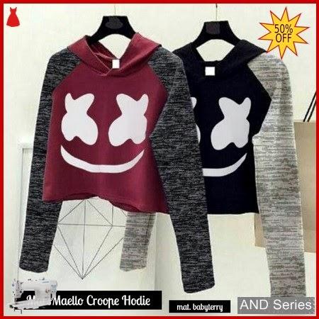 AND026 Baju Atasan Wanita Kaos Marshmello Crope BMGShop