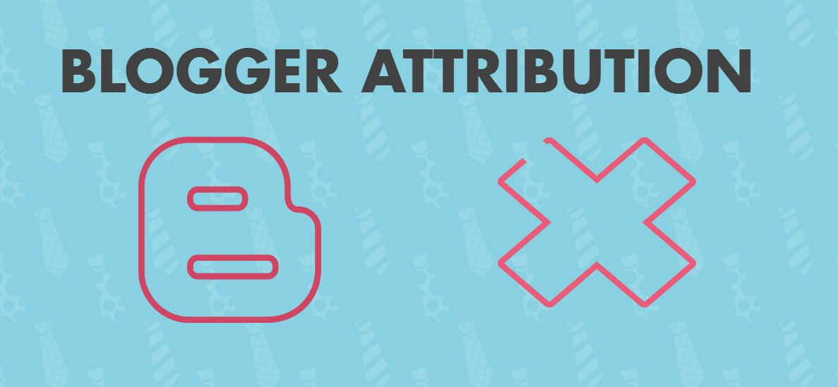 Remove 'Powered by Blogger' attribution widget