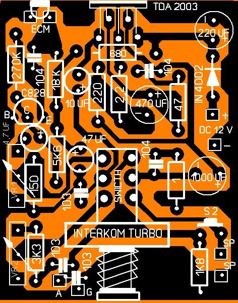 membuat intercom IC TDA 2003