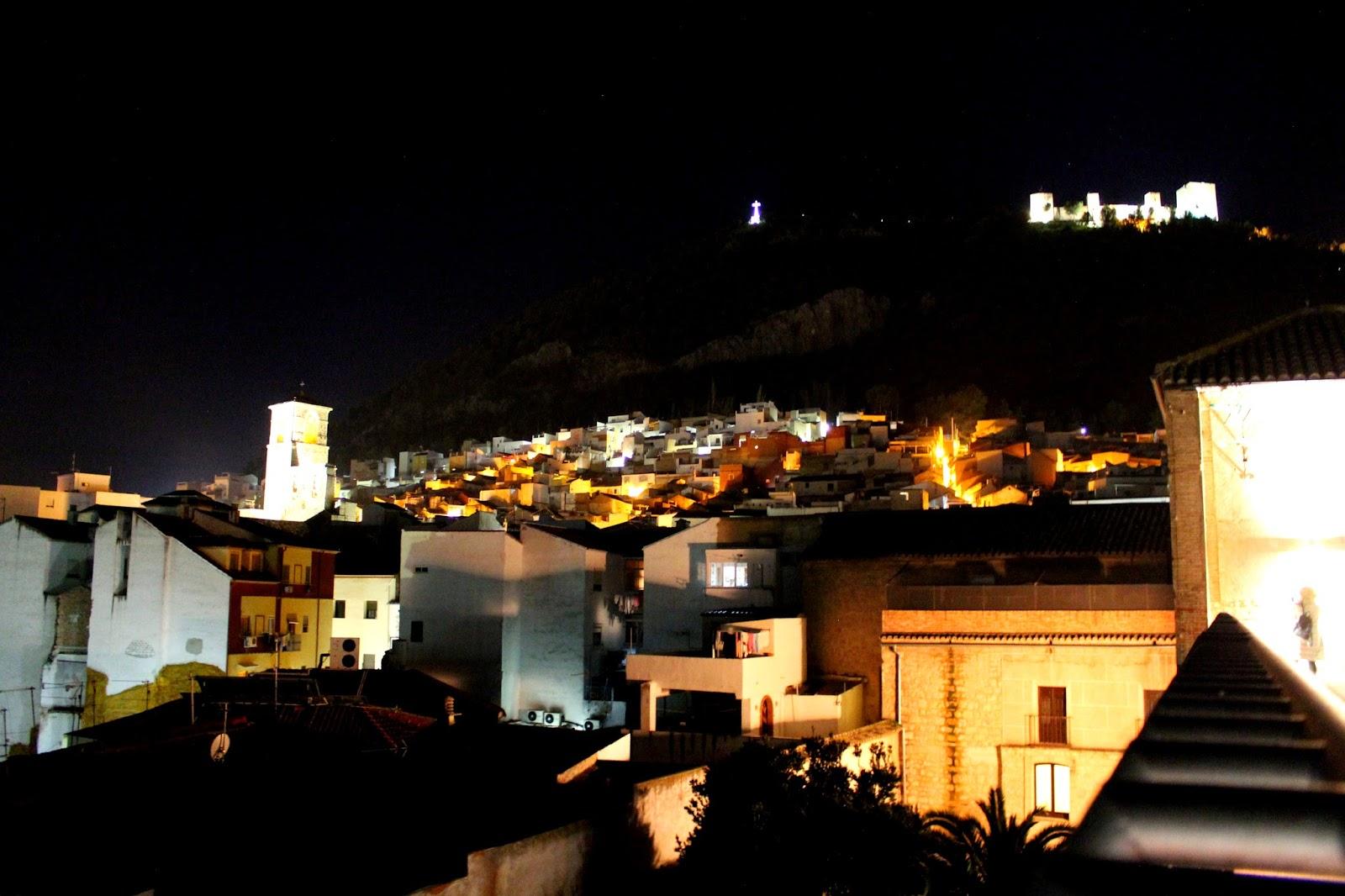 Vistas desde el ático del Palacio de Villardompardo en Jaén