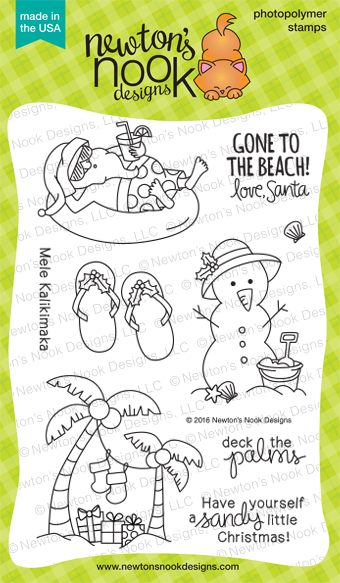Sun Soaked Christmas | Tropical Christmas Stamp set by Newton's Nook Designs #newtonsnook