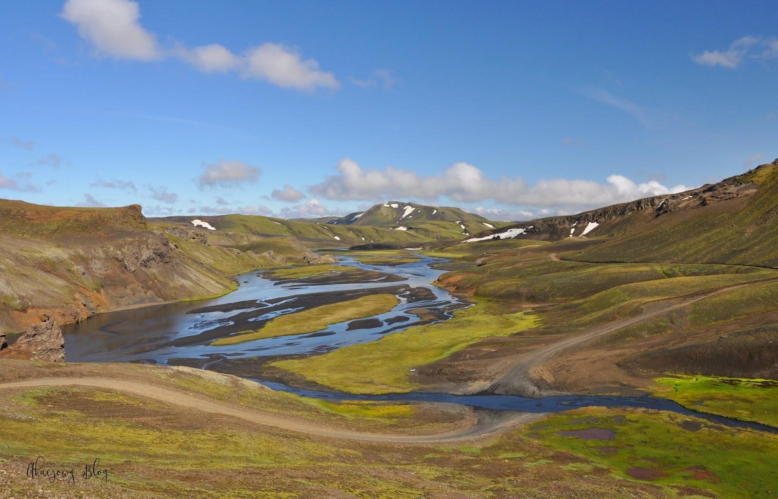 Islandia, w drodze do Landmannalaugar.