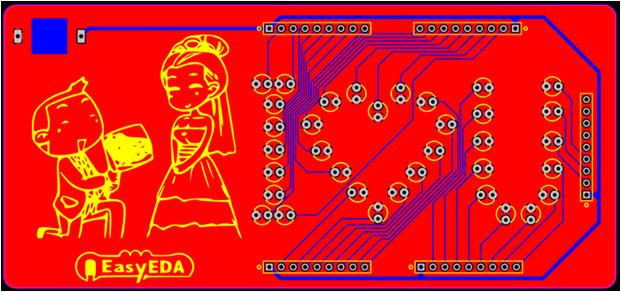 EasyEDA diseño final PCB.