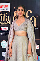 Cute Rakul Preet Singh in Deep Neck Cream Crop top Choli and Ghagra at IIFA Utsavam Awards March 2017  HD Exclusive Pics 04.JPG