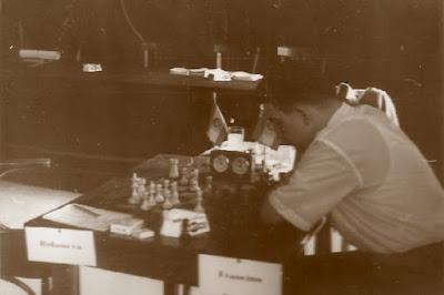 I Torneo Internacional de Terrassa 1960, partida Ridameya-Francino