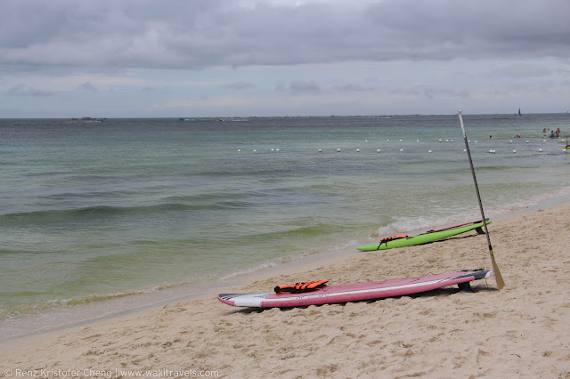 Boracay Beach Photo with Surf Board