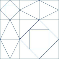 Here Is What The Quilt Would Look Like If 20 Blocks Were Placed In A 4x5 Grid Below Note That An Additional Vertical Row Of Diamonds Along