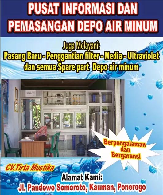 Brosur Depot Air Minum Galon Isi Ulang - DepoAMDK - CV.Tirta Mustika - Basuki Ikhsan