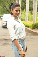 Rakul Preet Singh in Jeans and White Shirt At Jaya Janaki Nayaka le Logo Launch ~  Exclusive 016.JPG