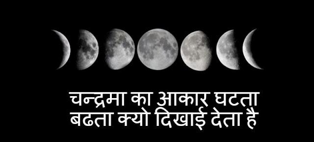 Chandrama Ka Aakar Ghatata Badhata Kyon Dikhaee Deta Hai