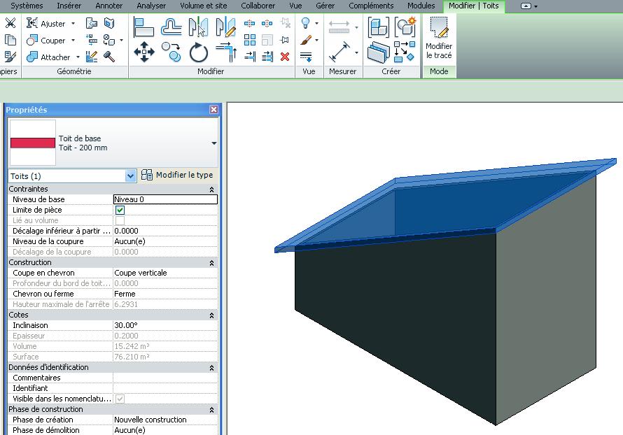 revit m mo revit 2013 toiture diff rents types de toits. Black Bedroom Furniture Sets. Home Design Ideas